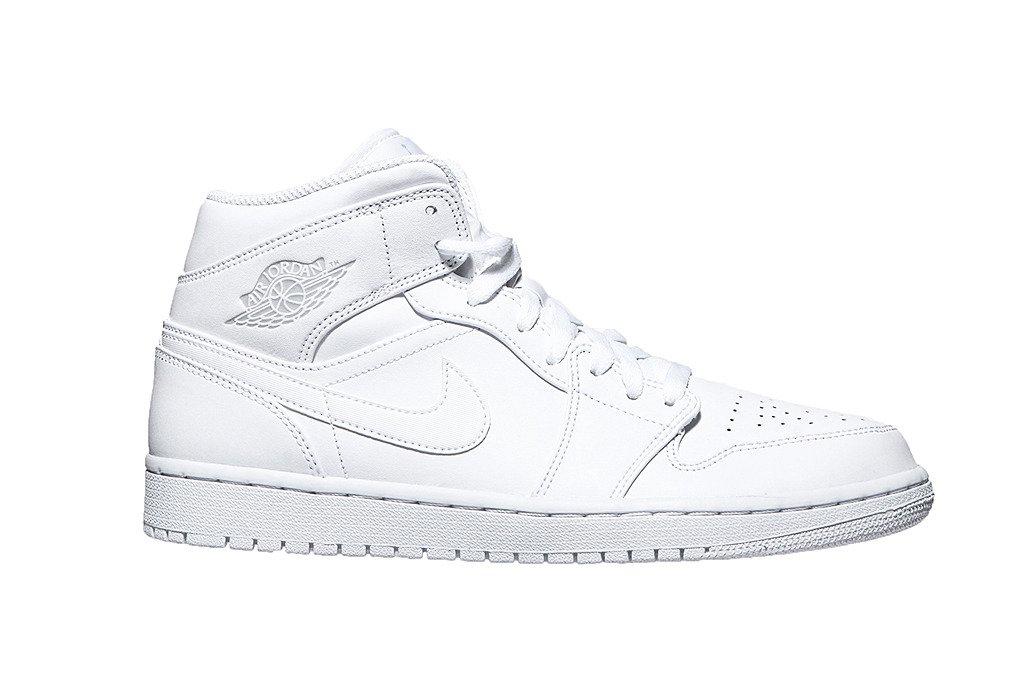 gładki oficjalne zdjęcia wiele kolorów Nike buty męskie Air Jordan 1 Mid 554724-104 białe | e ...