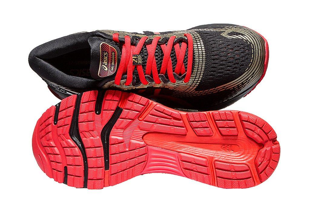 2901cbff Asics Buty męskie do biegania Gel Nimbus 21 1011A257-001 Black/Classic Red  ...