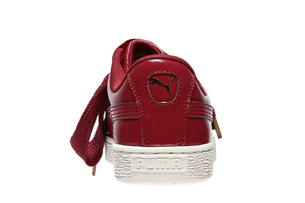 puma basket heart bordowe